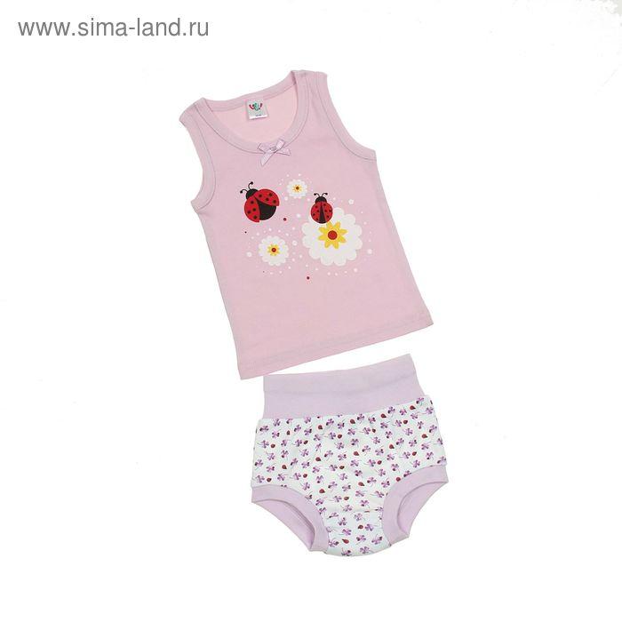 Комплект для девочки (майка с плечом, трусы), рост 68 см (44), цвет светло-сиреневый (арт. 311)