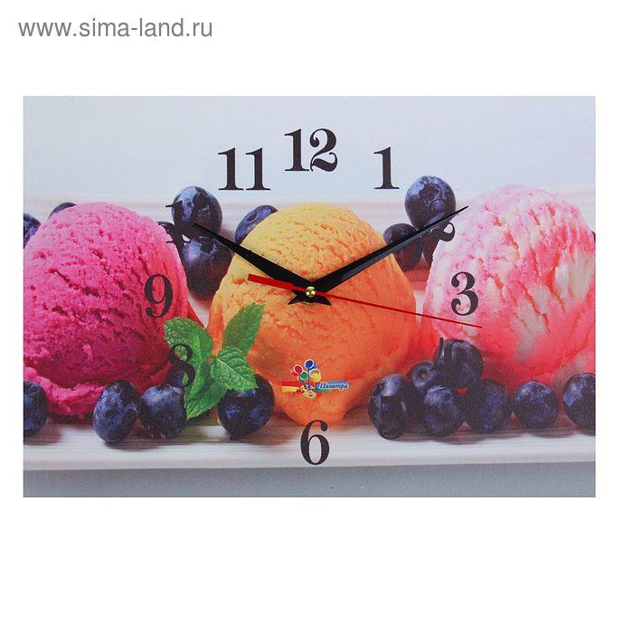 """Часы настенные прямоугольные """"Мороженое"""", 25х35 см"""