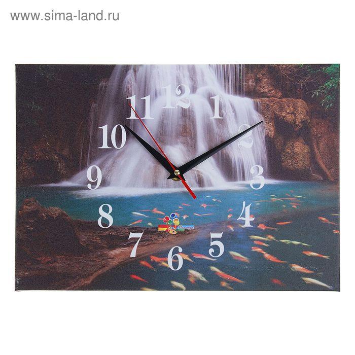 "Часы настенные прямоугольные ""Водопад"", 25х35 см"