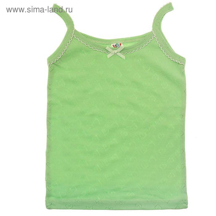 Майка для девочки на бретелях, рост 110-116 см (60), цвет зелёный (арт. 216)