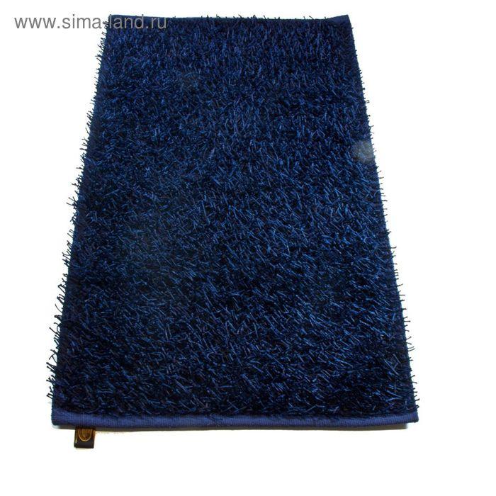 Коврик Langflor-Teppich in Metallic-Optik, размер 50х70 см, цвет синий