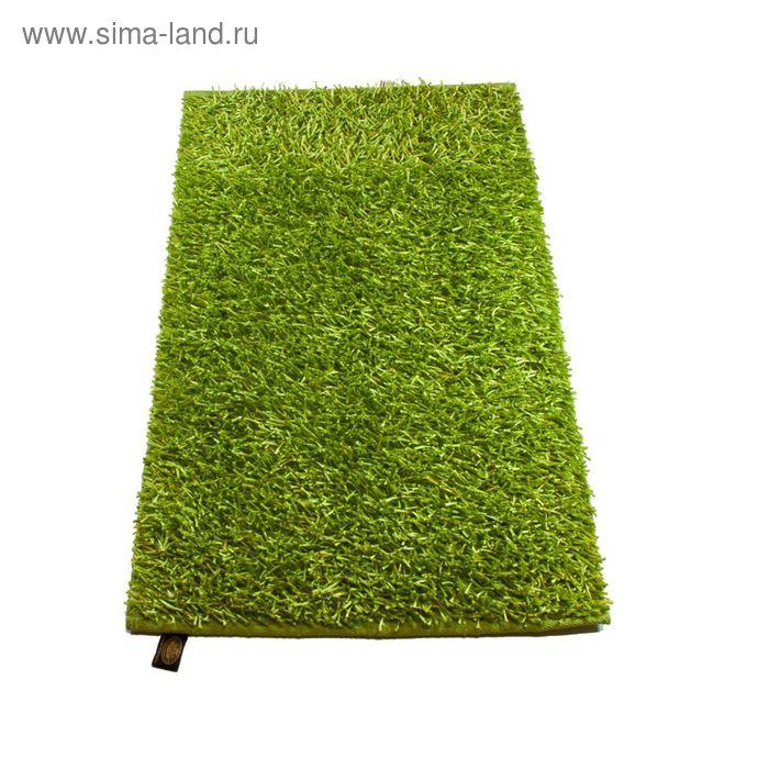 Коврик Langflor-Teppich in Metallic-Optik, размер 50х70 см, цвет салатовый