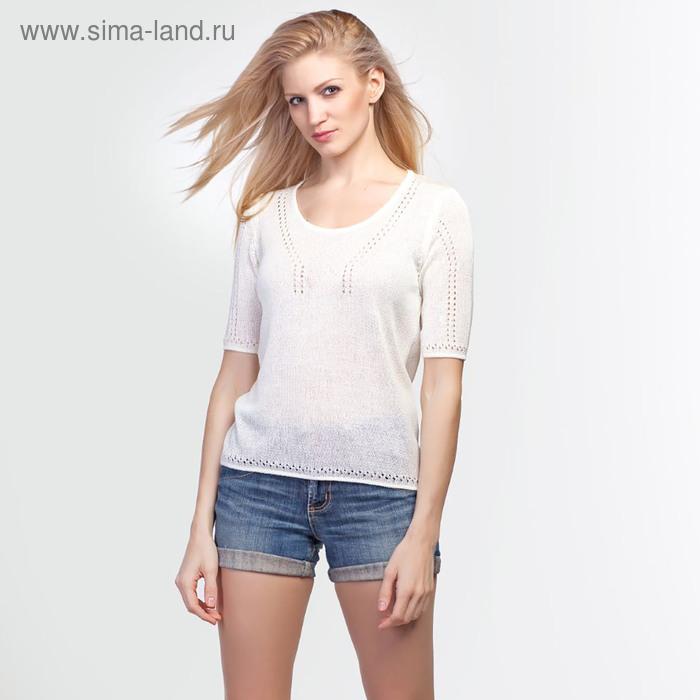 Джемпер женский 3408, цвет белый, р-р 48, рост 168-170