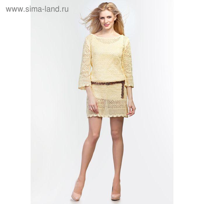 Платье женское 2113, цвет ваниль, рост 168-170, размер 42