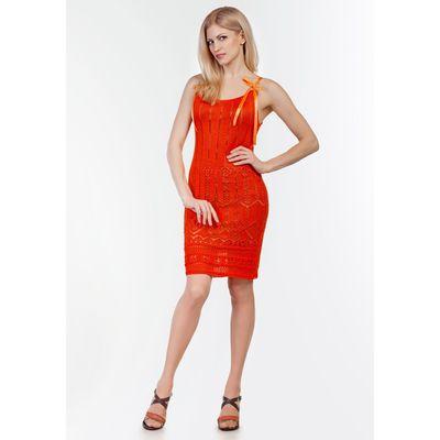 Сарафан женский 2090, цвет оранжевый, р-р 44, рост 168-170