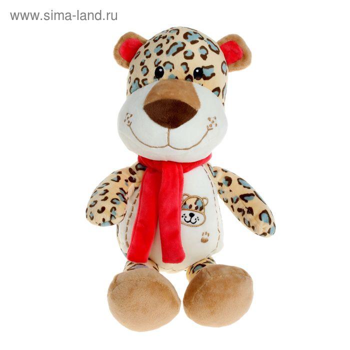 Мягкая игрушка «Леопард» с шарфом и вышивкой на груди