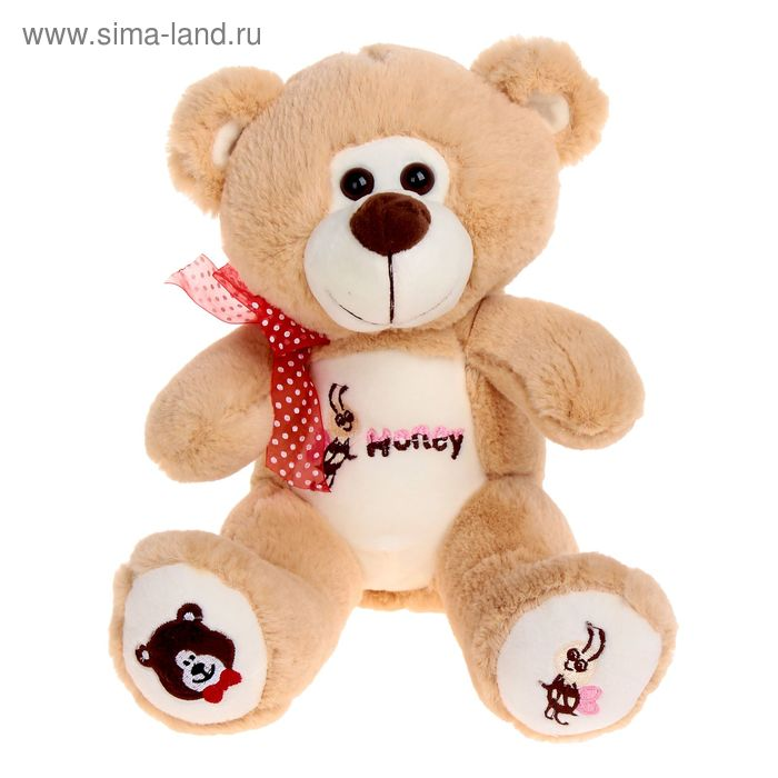 Мягкая игрушка «Медведь» с вышивкой на животе