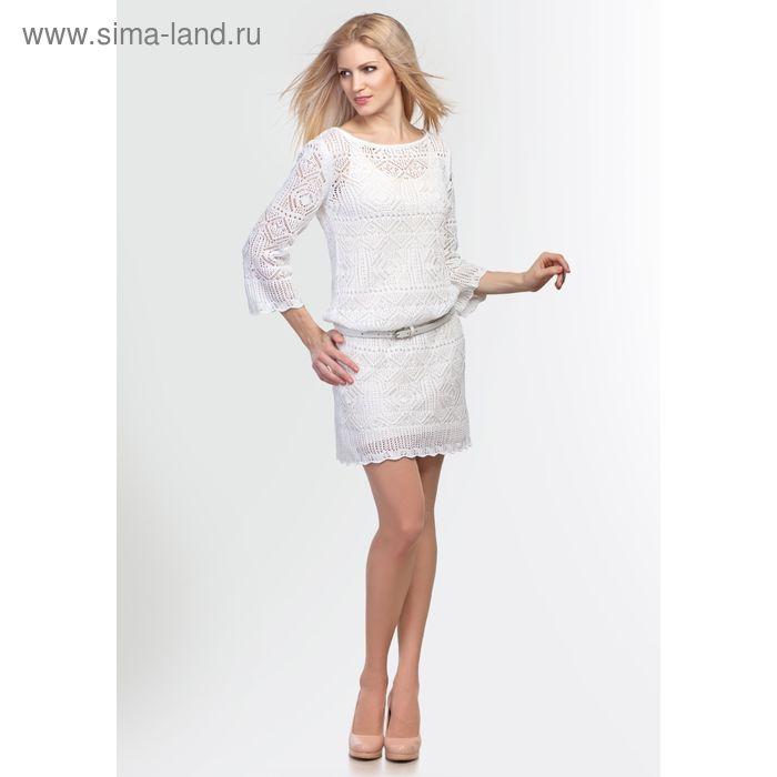 Платье женское, цвет ваниль, рост 168-170 см, размер 50 (арт. 2113 С+)