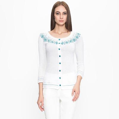 Жакет женский 3393, цвет белый, р-р 46, рост 168-170