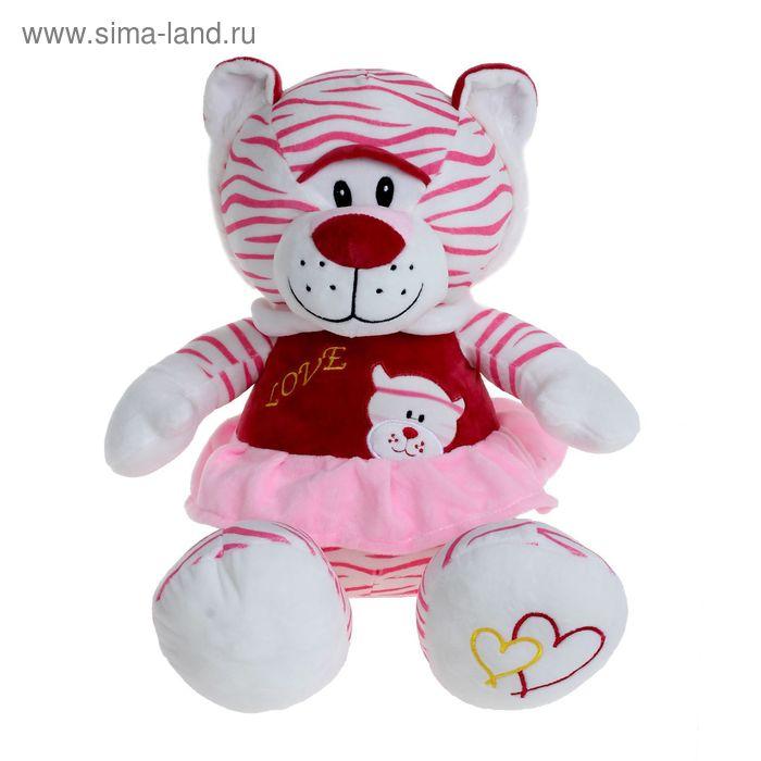 Мягкая игрушка «Тигр белый в платье № 2», цвета МИКС