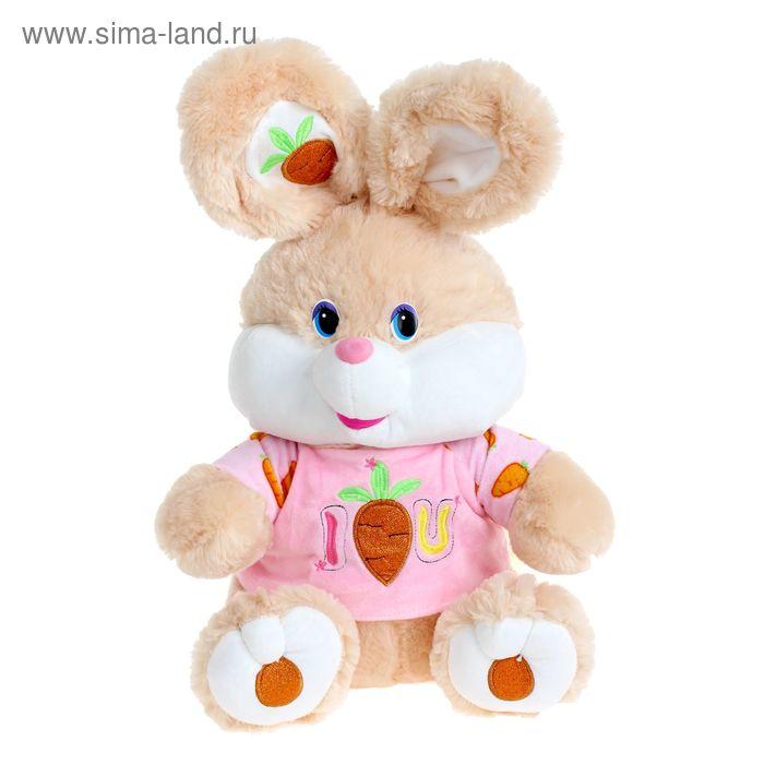 """Мягкая игрушка """"Заяц № 1 в кофте"""" с вышитой морковкой, цвета МИКС"""