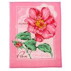 """Полотенце вафельное купонное """"Пионы"""", размер 45х60 см, цвет розовый микс"""