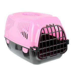 "Переноска для животных  ""Сириус"", 33,5х31х50 см, цвет розовый"