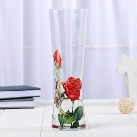 """Ваза """"Серпантин"""", красные розы"""