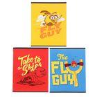 Тетрадь 40 листов клетка Angry Birds, картонная обложка, МИКС