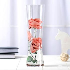 """Ваза """"Серпантин"""", розовые розы"""