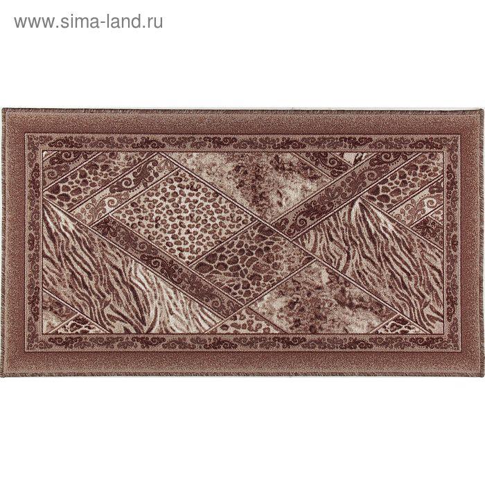 Ковёр Прошивной Палитра 93 p1302b2, размер 100х200 см, ворс 100% ПА, оверлок