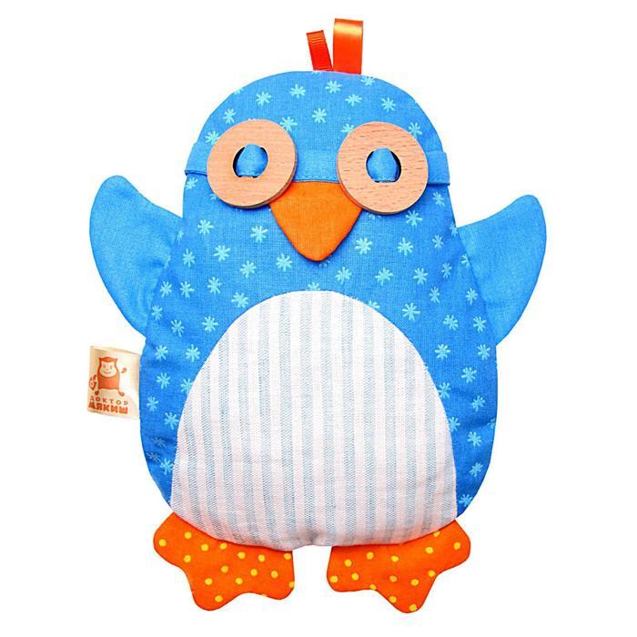 Развивающая мягкая игрушка с вишнёвыми косточками «Доктор Мякиш Пингвин» - фото 105533361