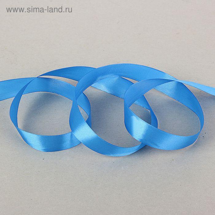Лента атласная 25мм*35м синий