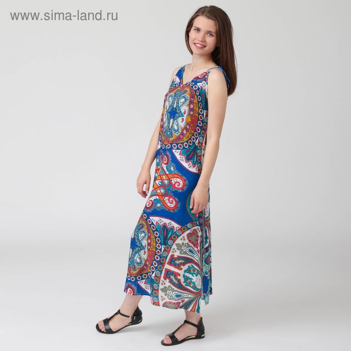 Платье женское Y1359-0102, цвет цветной принт, размер48/170