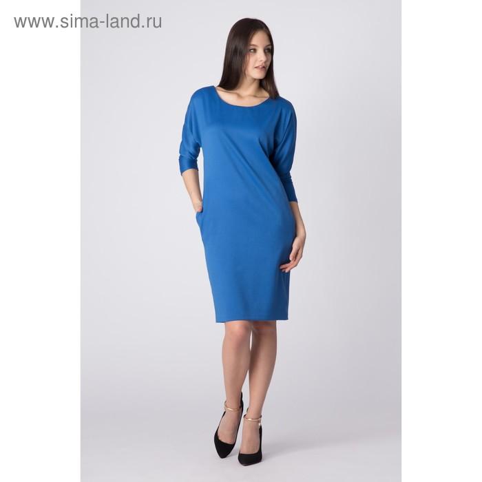 Платье женское, цвет голубой, размер 56, рост 170 см (арт. Y2008-0054 С+ new)