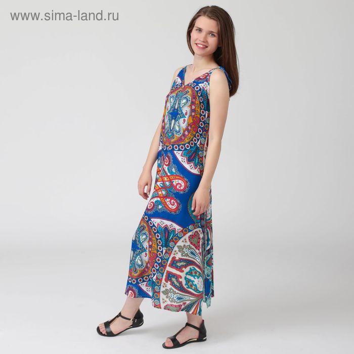 Платье женское, цветной принт, размер 50, рост 170 см (арт. Y1359-0102 С+)