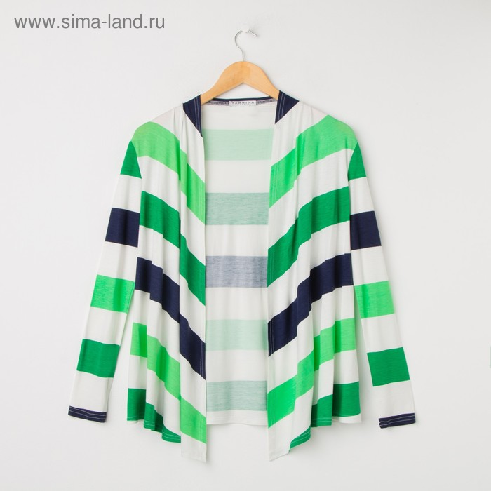 Кардиган женский Y0105-0159, цвет сине-зеленая полоска, размер48/170