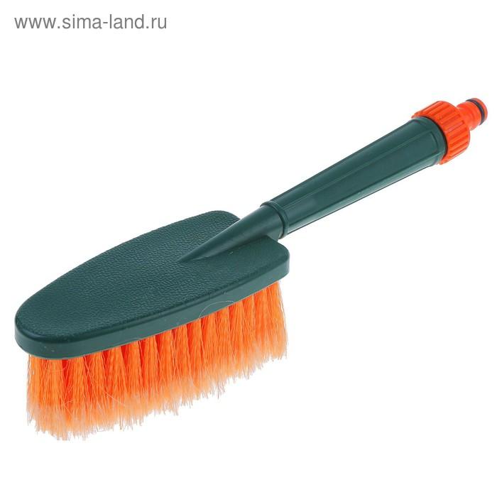 Щетка для мытья Li-Sa, проточная ручка со штуцером для подачи воды, 31 см