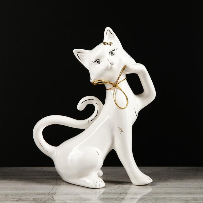 "Копилка ""Кошка Милена"" глазурь, белая"