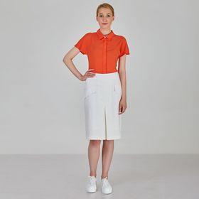 Рубашка женская, цвет морковный, размер 46 Ош