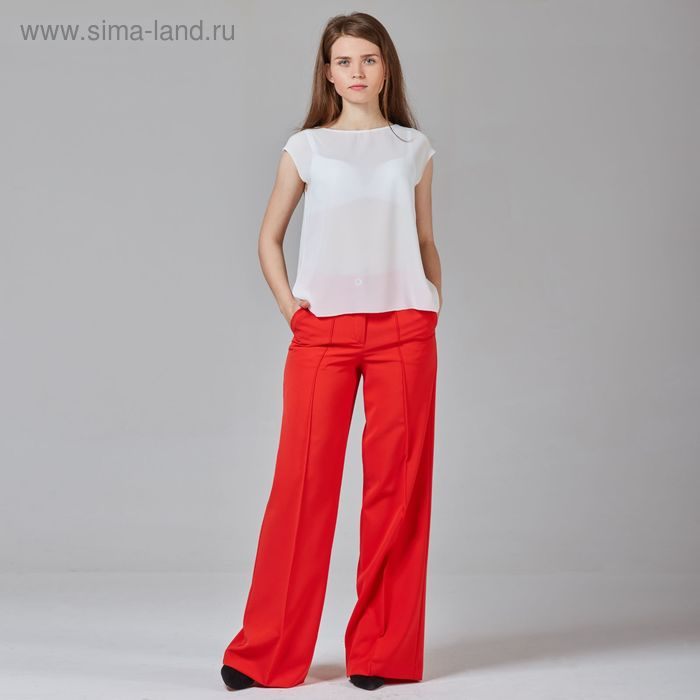 Брюки женские, цвет красный, размер 52, рост 170 см (арт. Y1512-0085 С+)