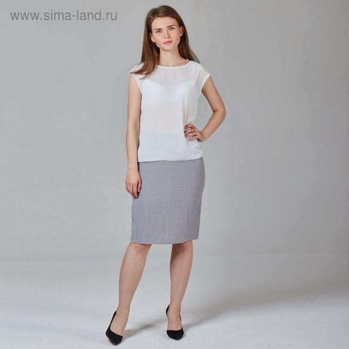 Юбка женская, цвет серый, размер 50, рост 170 см (арт. Y6831-0079 С+new)