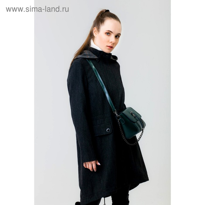 Куртка женская Y8001-0196, цвет темно-серый меланж, размер46/170