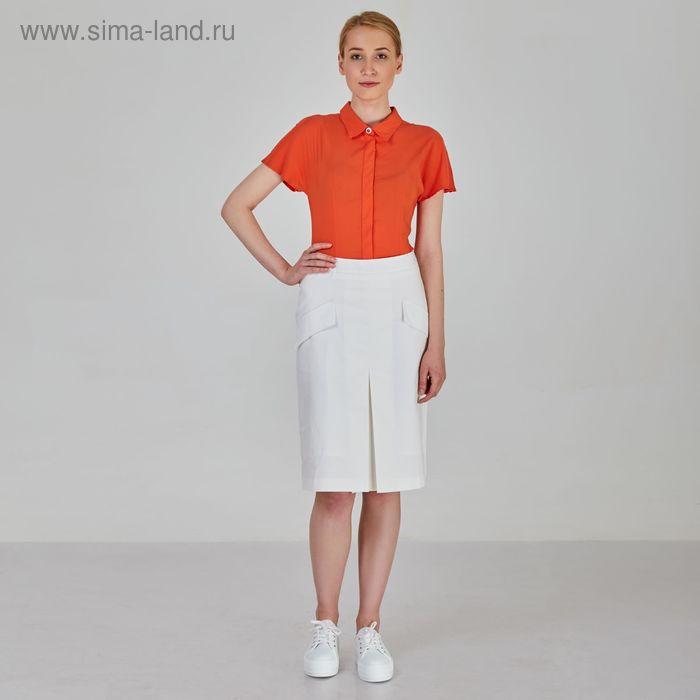 Блуза женская, цвет морковный, размер 50, рост 170 см (арт. Y1318-0063 С+)