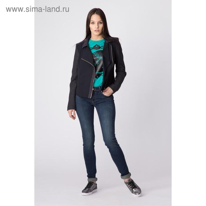 Жакет женский Y4365-0056, цвет темно-синий, размер44/170