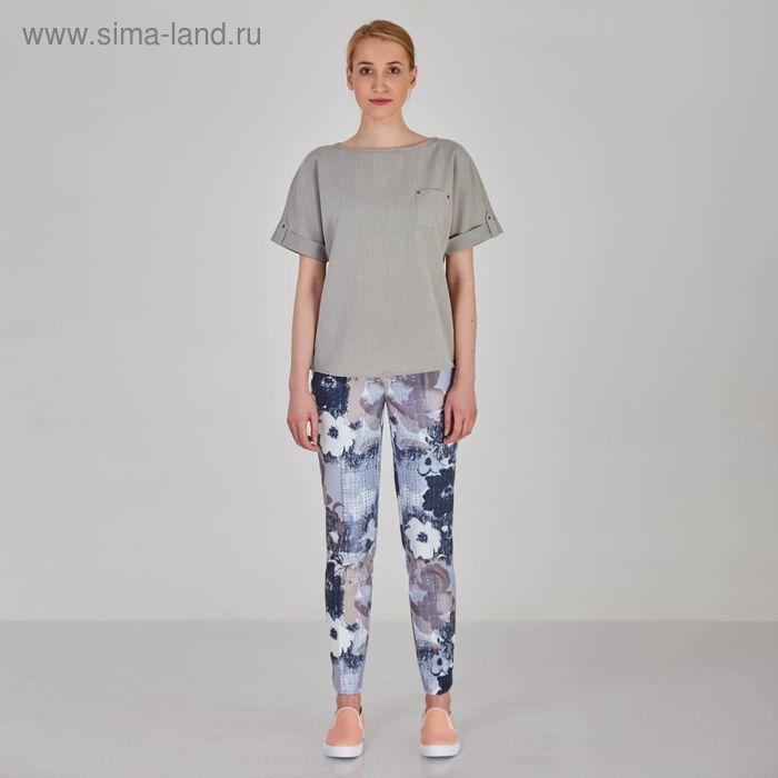 Блуза женская Y1214-0088 new, цвет серый, размер48/170
