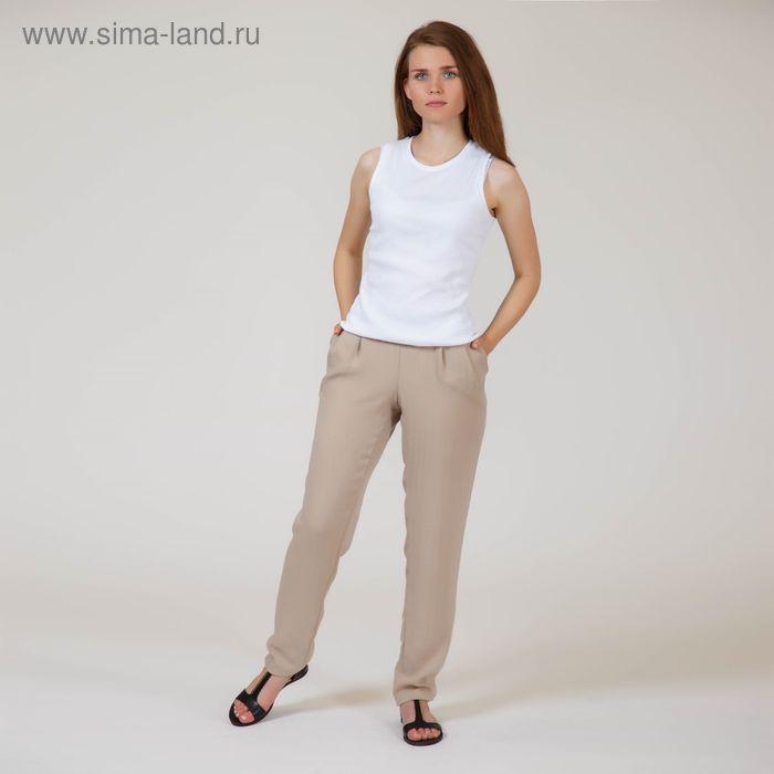 Брюки женские, цвет бежевый, размер 50, рост 170 см (арт. Y6022-0132 С+)