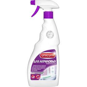 Средство для чистки акриловых ванн и душевых кабин Unicum (спрей), 500 мл, микс