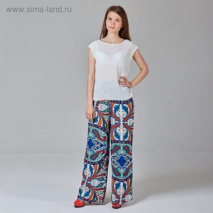 Брюки женские Y1359-0148, цвет цветной принт, размер48/170