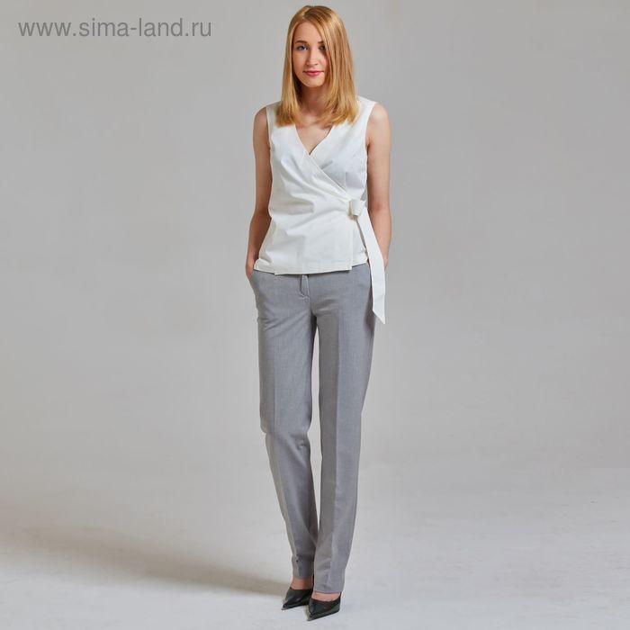 Брюки женские Y4347-0062, цвет светло-серый, размер 48, рост 170
