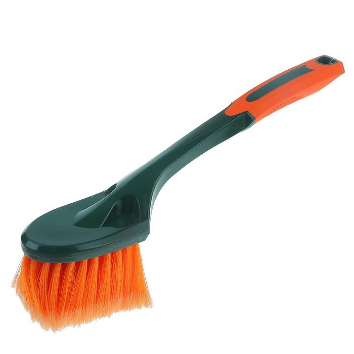 Щетка для мытья Li-Sa, для труднодоступных мест, прорезиненная ручка, 40 см