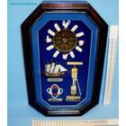 ключница часы FY-4025 40*25*8cм (бокс 16 шт)