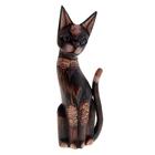 Сувенир Кот в ошейнике 30 см 3BRO 01-04-09A дерево албезия