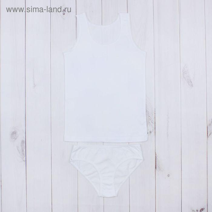 """Гарнитур для девочки """"Белая"""", рост 140 см (72), цвет белый ДНГ562001"""