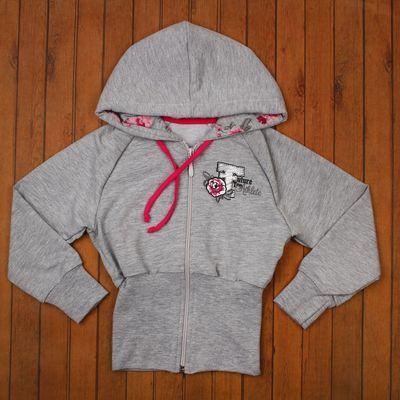 "Спортивная куртка для девочки ""Романтика"", рост 140 см (72), цвет серый (арт. ДДД886858)"