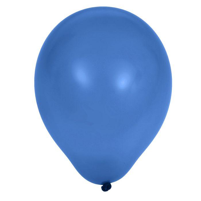 """Шар латексный 5"""", пастель, набор 100 шт., цвет синий - фото 953739"""