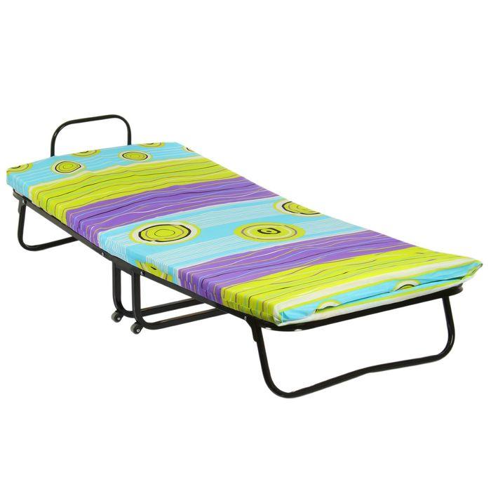 """Кровать раскладная 190х80 см """"Камелия """", ортопедическое основание, матрас ППУ 6 см"""