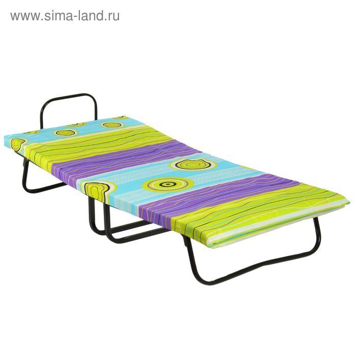 """Кровать раскладная 190х80 см """"Лиана"""", квадратное звено, матрас ППУ 6 см"""