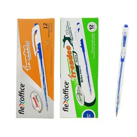 Ручка шариковая автомат FlexOffice Trendee, узел-игла 0.5 мм, стержень синий