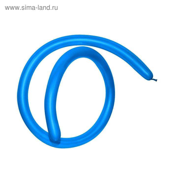 Шар для моделирования 260, пастель, набор 100 шт., цвет синий